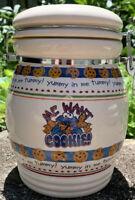 Sesame Street Cookie Monster Me Want Cookie! Locking Ceramic Cookie Jar 2006