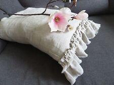 Linen Pillowcase with ruffle Linen ruffled pillowcase queen pillow cover gift
