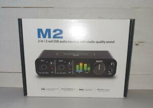 Motu M2 usb audio interface with studio quality sound