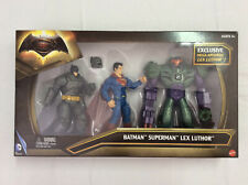 Mattel Batman v Superman: Dawn of Justice Lex Luthor Figure 3-Pack. New in Box.