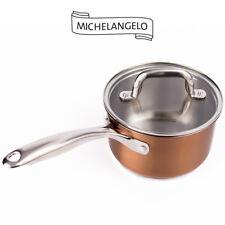 Michelangelo 2 Quart Saucepan, Small Sauce Pot, Stainless Steel Sauce Pan