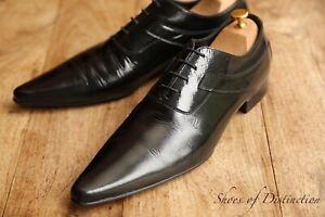 Men's Dolce & Gabbana Black Patent Leather Lace Up Dress Shoes UK 10 US 11 EU 44