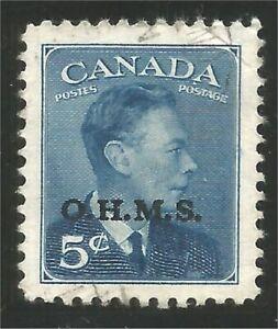 Canada #O15A Official 5c O.H.M.S. George VI blue  (61)