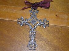 Camco Marked Carved Pewter Confirmed in Christ Confirmation Gift Cross with Silk