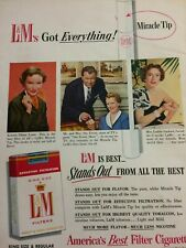 Diana Lynn, L&M Cigarettes, Full Page Vintage Print Ad