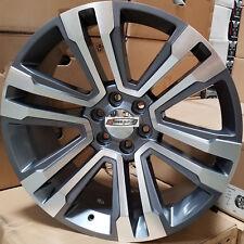 24 GMC Replica Rims Gunmetal 2018 Style Wheels Fit Tahoe Silverado Sierra Yukon