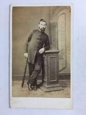 Victorian Carte De Visite CDV: Gentleman: T Wood: Reading: Holding Umbrella