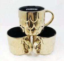Starbucks 2019 Christmas Gold Mermaid Scales Coffee Cup Limited Ceramic Mug