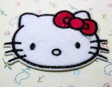 1 Pcs Cute Avatar Hello Kitty sewing notions patch iron on embroidered appliques