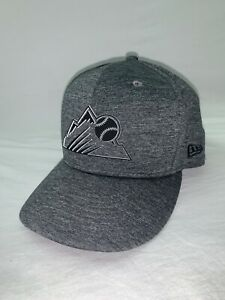 RARE New Era Colorado Rockies 59Fifty Fitted MLB Hat Cap - Gray Chrome - 7 3/8
