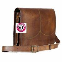 """Messenger Shoulder Bag Handbag 15"""" Men New Genuine Real Leather Satchel Lining"""