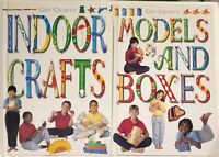 2 Get Crafty Books Models & Boxes/Indoor Crafts h/b great lockdown learn fun LN