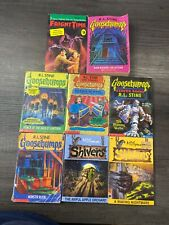 5 Goosebumps 1 Fright Time 2 Shivers Scary Paper Back Children's Books
