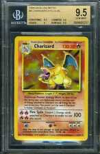 1999 POKEMON 4/102 CHARIZARD HOLOGRAPHIC HOLO FOIL BECKETT BGS 9.5 GEM MINT RARE