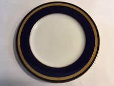 "SET OF 10 Rosenthal Eminence Dinner Plates Cobalt & Gold 10"" Perfect Condition!"