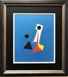 "Miro ""La Lune"" (The Moon) Rare Custom Framed Abstract Surrealism Art Lithograph"