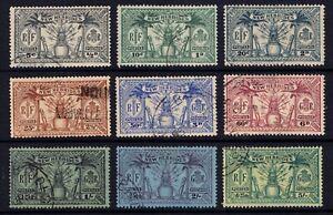 New Hebrides fine used 1925 British inscription set of 9 SG nos. 43-51