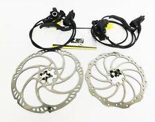 Magura MT4 Hydraulic Disc Brake Set F&R Levers Calipers Pre-Bled Hoses Rotors #1