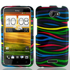 For AT&T HTC ONE X HARD Protector Case Snap On Phone Cover Colorful Zebra