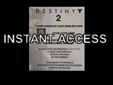 Destiny 2 - INSTANT DELIVERY via eBay Message Confluence of Light emblem Code