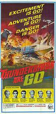 THUNDERBIRDS ARE GO original large 1966 RARE 3-sheet movie poster GERRY ANDERSON