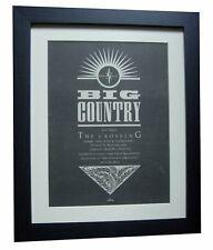 BIG COUNTRY+The Crossing+POSTER+AD+RARE+ORIGINAL 1983+FRAMED+EXPRESS+GLOBAL SHIP