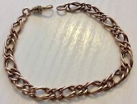 Stunning Ladies Vintage Heavy Solid 9CT Rose Gold Bracelet Fancy Link Nice