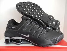 MEN'S NIKE SHOX NZ BLACK-METALLIC SILVER-ANTHRACITE SZ 10 [378341-090]