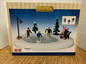 LEMAX  Holiday Hockey#44769Animated Table Accent2014  FREE SHIPPING
