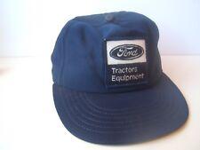 Vintage Ford Tractors Equipment Patch Hat Damaged Blue Snapback Baseball Cap