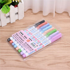 8 Colors/1set Wipeable Liquid Chalk Glass Marker Pen Shop Window Car Decorating