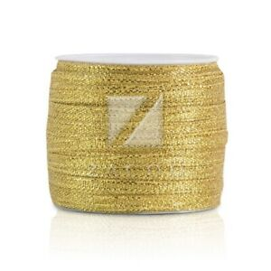 25/50 Yards Glitter Sheer Organza Ribbon 3/6/10/15/20/25/38/50mm Gold/Silver BW