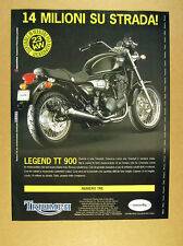 1999 Triumph Legend TT 900 motorcycle photo italian print Ad