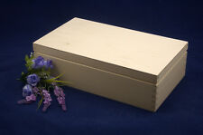 Plain Wooden Tea Box 8 Compartments Perfect For Decoupage and other Crafts