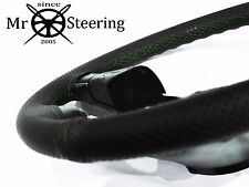 FOR PEUGEOT EXPERT 2 07+ PERFORATED LEATHER STEERING WHEEL COVER GREEN DOUBLE ST