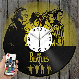 LED Clock The Beatles Vinyl Record Clock Art Decor Original Gift 4135
