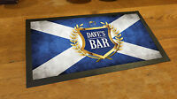 Personalised Golden Crest Beer Festival Beer Label Scottish Flag bar runner mat