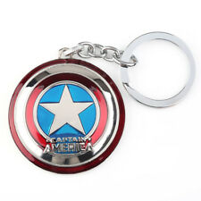 Captain America Shield 5cm Key Ring Double-sided Whirling Metal Keyring Chain