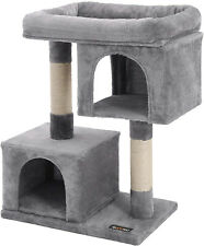 New listing Feandrea Cat Tree For Large Cats, 2 Cozy Plush Condos And Sisal Posts