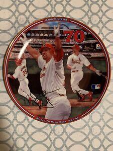 Mark McGwire Record Breaker Commemorative Plate #70