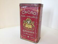Antike Blech Kakaodose GRISON Vintage Cacao Tin