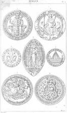 SEALS. Philip Bold King John Duke Burgundy Louis XII Jeanne Provost Paris 1879