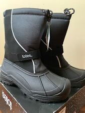 Mens Totes ThermoliteWave Black Waterproof Shell Boots Size 13M NEW orig.$85