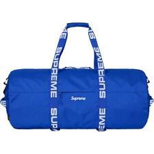 NWT Supreme NY Men's Royal Blue Box Logo Cordura Large Duffle Bag SS18 AUTHENTIC