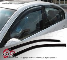 Front 2pcs JDM Visors Rain Guard Chevy Silverado 1500 2500 99-06 Crew Cab LT LS
