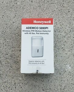 Honeywell Ademco 5890PI Wireless PIR Motion Detector With 40 lbs.Pet Immunity.