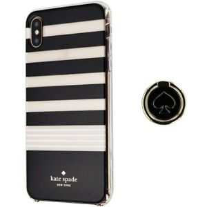 Kate Spade Hardshell Case and Ring Stand for iPhone XS Max - Clear/Black/White