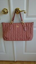NWT COACH F31460 Melon Quilted Leather Ally Satchel Crossbody Bag Purse