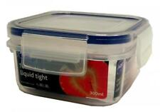 Addis 300 ml Clip and Close Square Food Storage Container, Clear