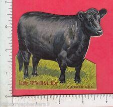 8609 Libby, McNeil canned beef meat die-cut steer flier ham chicken, tongue food